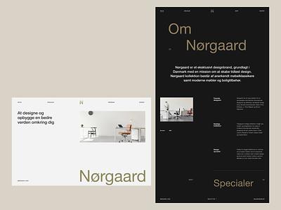 Nørgaard Layout Exploration clean homepage typography ui web design interaction minimal website landing page layout vietnam