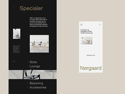 Nørgaard Layout Exploration Vol.2 design ui web design clean interaction minimal website landing page layout vietnam