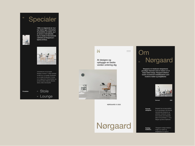 Nørgaard Layout Exploration Mobile Layout app typography ui clean web design minimal website mobile app mobile layout vietnam