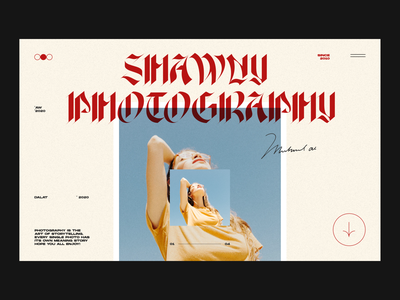 Shawny Photography visual ui clean typography web design interaction minimal landing page website layout vietnam