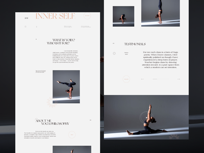 Yojia Yoga Pt.2 interaction typography ui web design vietnam landing page website minimal clean layout