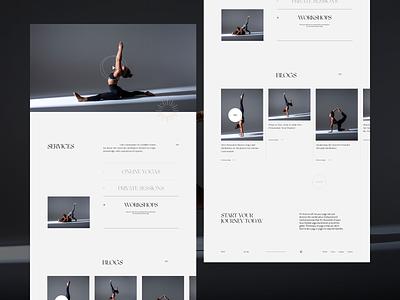 Yojia Yoga Pt.3 typography minimal homepage ui web design interaction landing page website layout vietnam
