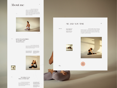 Yojia Yoga Pt.4 typography homepage ui clean web design minimal landing page website layout vietnam