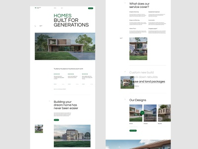 Willoughby Homes Layout Exploration 002 typography homepage ui clean web design minimal landing page website layout vietnam