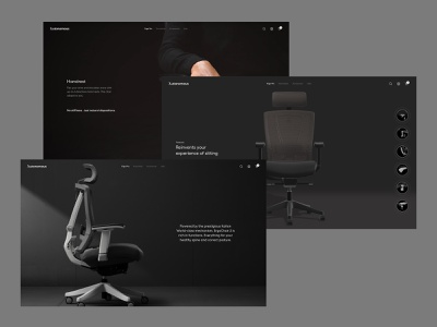 Ergo Pro Page Concept product chair homepage interaction clean ui web design minimal landing page website layout vietnam