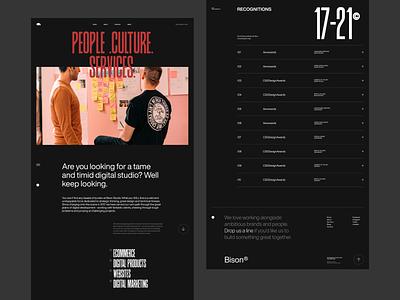 Bison Studio / About Us ui design ui clean design web design minimal landing page website layout vietnam