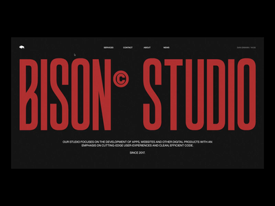 Bison Studio / Loader and Page Transition smooth page transition animation transition clean web design minimal landing page website layout vietnam