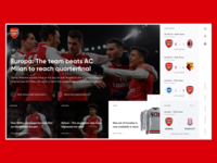 Arsenal FC Web Redesign
