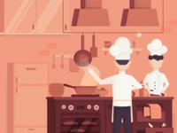 Illustration concept for HeadChef