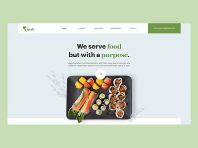 Landing page for Vegoshi Restaurant