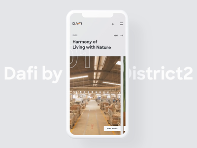 DAFI Furniture Website on Mobile Devices mobile ui ux ui app typography mobile website responsive animation interaction layout table minimal clean style scandinavian furniture website furniture vietnam