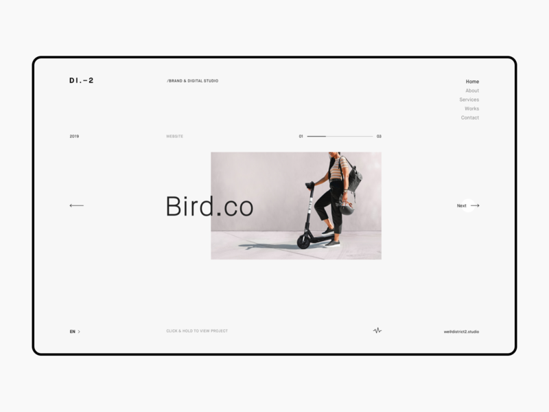 D2 V2 Layout Exploration clean simple minimal vietnam typography experimental exploration home page landing page layout design responsive website grid layout