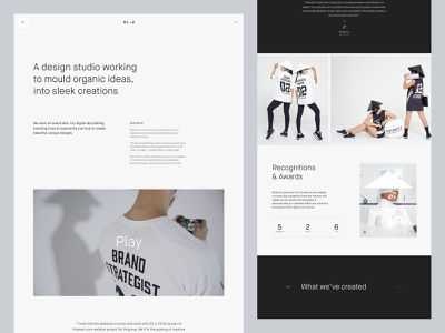 District2 V2 About Page scrolling scroll web design clean vietnam ui homepage website minimal interaction landing page layout