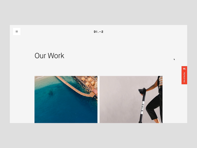 District2 V2 Projects & Project Detail Page transition scroll animation scolling scroll ui clean animation web design website minimal interaction landing page vietnam layout