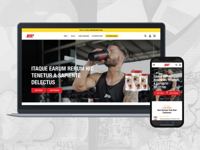 1Up Nutrition Home Redesign ui ux ux ui ecommerce design ui design ux design health shopify ecommerce fitness nutrition design website modern web ux ui