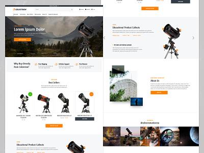Celestron Home Redesign homepage ui ux ux design ui design shopify ecommerce design ecommerce design website modern web ux ui