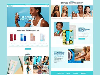 COOLA Homepage Redesign sketch web modern website design ecommerce design ecommerce shopify ux design ui design ux ui ui ux