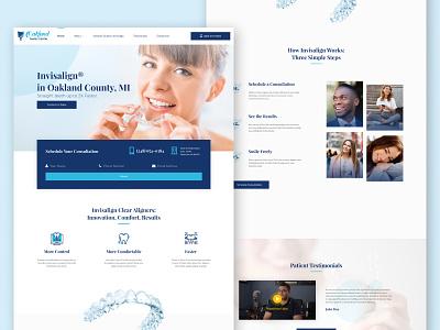 😁👩🏾⚕️ Invisalign® website for Oakland Family Dental orthodontist orthodontics modern invisalign invisalign® medical care medical dentistry dentist dental care dental website web ux ui figma design