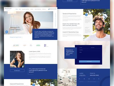 Work in Progress for a Dental Office 🤠 flat typogaphy minimal dentistry dentist dental care dental modern design website web ux ui figma