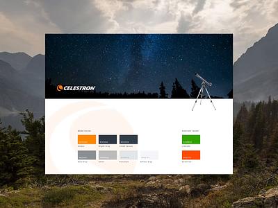 Celestron UI Kit optical telescope uxui design uxui ecommerce branding styleguide ui kit modern design website web ux ui