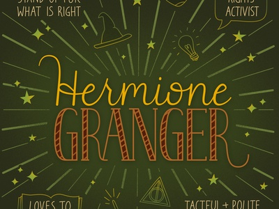 Hermione Granger hand lettering typography lettering