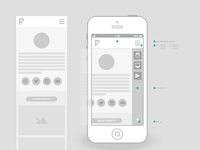 Wireframes phone