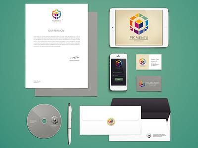 PIGMENTO 3D Studio - Branding Identity vector design colombia graphic design branding logo