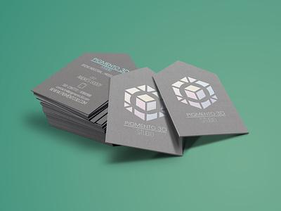 PIGMENTO 3D Studio - Business card vector design colombia graphic design branding logo