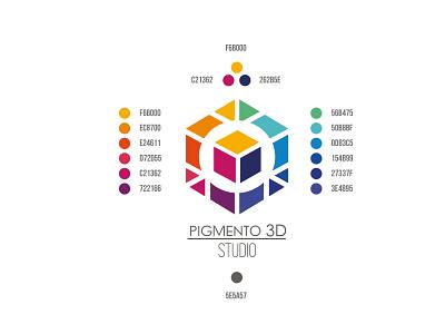 PIGMENTO 3D Studio - Color Palette vector colombia logo graphic design branding