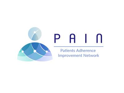 PAIN - Patients Adherence Improvement Network - Logo Design illustration design typography ux ui vector colombia logo graphic design branding