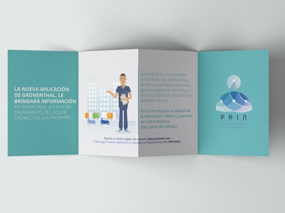 Patients Adherence Improvement Network - Foldable Brochure typography illustration design vector colombia logo graphic design branding