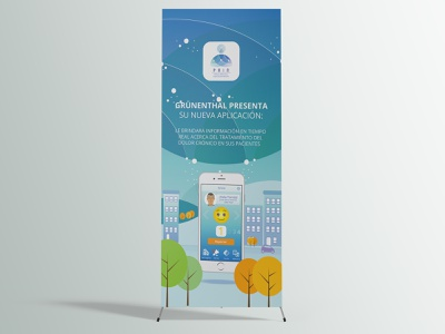 PAIN - Patients Adherence Improvement Network - Stand Banner colombia logo typography design branding vector illustration graphic design