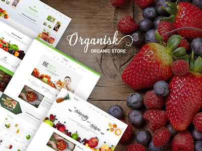 Organisk - Multi-Purpose Organic PSD Template psd template web design organic store