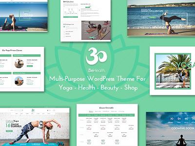 BeHealth - Multi-Concepts Yoga WordPress Theme graphic design multi-concepts theme wordpress theme health center yoga center