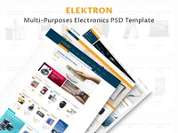 Elektron - Multi-Purposes Electronics PSD Template