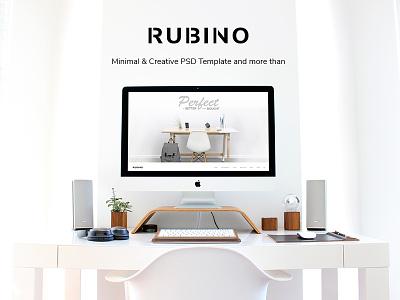 Rubino - Minimal & Creative PSD Template psd template web design minimal design
