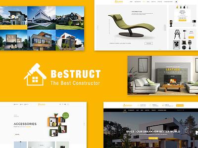 BeStruct - Construction & WooCommerce WordPress Theme new theme web design woocommerce theme construction wordpress theme