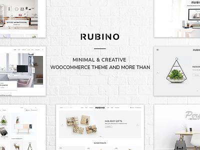 Rubino - Minimal & Creative WooCommerce Theme creative design web design wordpress theme woocommerce theme minimal design