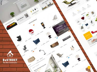 Powerful Construction Shop Homes from BeStruct new theme web design woocommerce theme construction wordpress theme