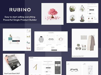 Rubino - Powerful Single Product Layouts Builder creative design web design wordpress theme woocommerce theme minimal design