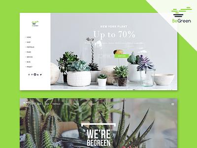 BeGreen – Beautiful Home Shop web design wordpress theme gardening landscaping planter store
