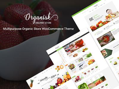 Organisk - Multipurpose Organic WooCommerce Theme web design wordpress themes woocommerce theme organic store