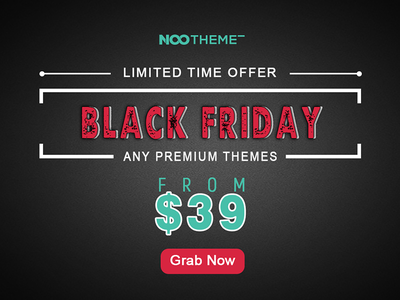 NooTheme Black Friday Deal Starts Now! wordpress themenootheme sale web design black friday black friday sale