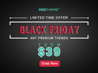 NooTheme Black Friday Deal Starts Now!