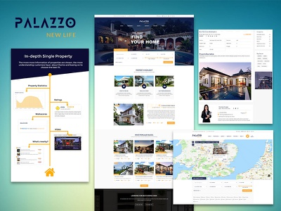 Palazzo - Functional Real Estate WordPress Theme agency listings agents listings properties listing web design wordpress themes real estate theme real estate