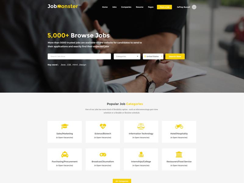 Jobmonster - Job Board WordPress Theme