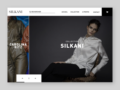 Silkani home page website fashion mode direction artistique ux ui
