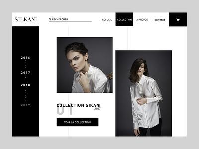 Silkani collection website ux ui mode fashion direction artistique