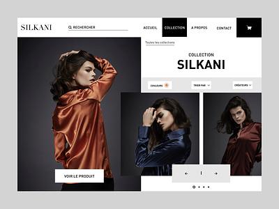 Sikani presentation collection website ux ui mode fashion artistique direction