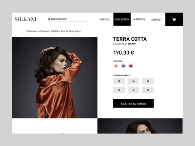 Silkani product page website ux ui mode fashion artistique direction